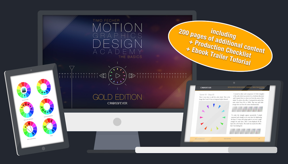 Motion graphics book the art of animation and graphic design gold edition fandeluxe Gallery
